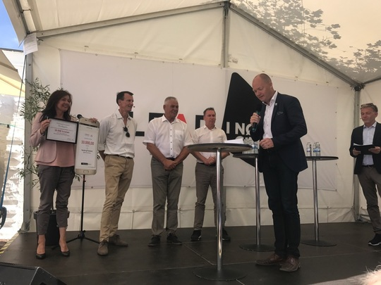 Prisoverrækkelsen ved Folkemødet på Bornholm 2018