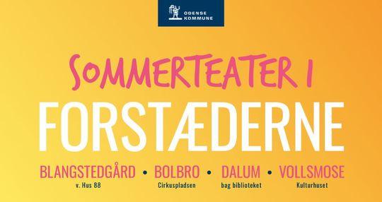 Plakat for Sommerteater i forstæderne