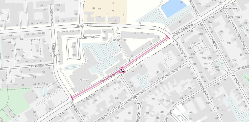 Vestre Stationsvej er spærret pga. fjernvarmearbejde den 19.-25. april
