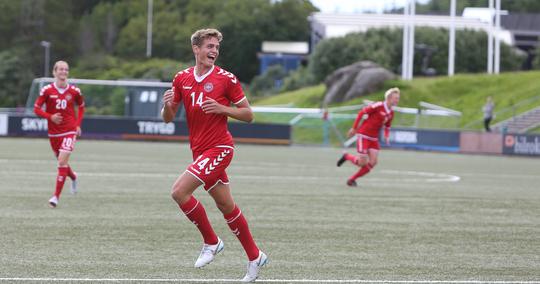 Daniel Obbekjær fra OB er en del af U17-landsholdstruppen, der spiller i Viborg den 27. oktober. / Foto: DBU