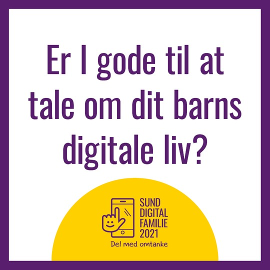 Er I gode til at tale om dit barns digitale liv?
