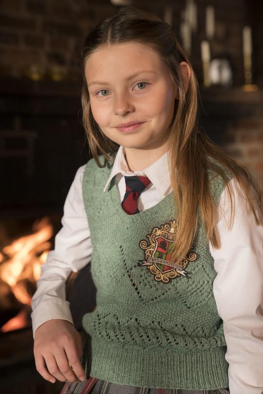Julemandens datter bliver spillet af stortalentet Ella Testa Kusk. Foto Per Arnesen