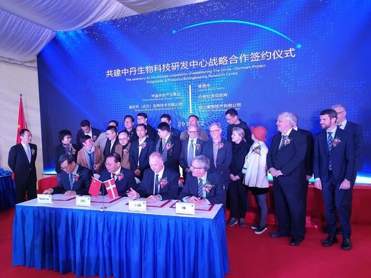 Aftale mellem to kinesiske virksomheder, Invest in Denmark og Viborg Kommune blev underskrevet i Wuhan den 2. april 2019.