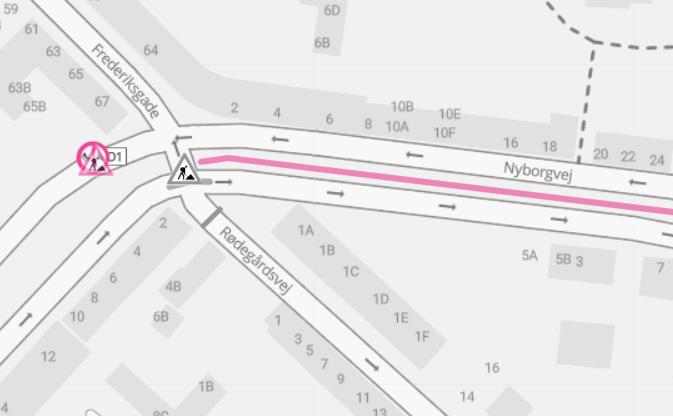 Rødegårdsvej spærres for indkørsel for biler fra krydset ved Nyborgvej og Benediktsgade fra på mandag.