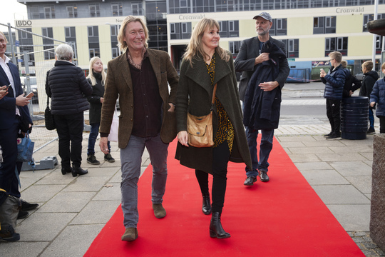 Erik Peitersen kom med lineproducer Merete Stubkjær og Uffe Rørbæk fulgte lige efter. Foto Flemming Jeppesen.