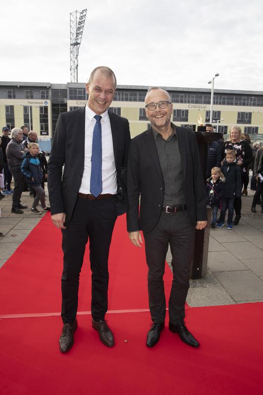 Kommunaldirektør Lasse Jacobsen og direktør for Kultur & Udvikling Lars Stentoft. Foto Flemming Jeppesen.