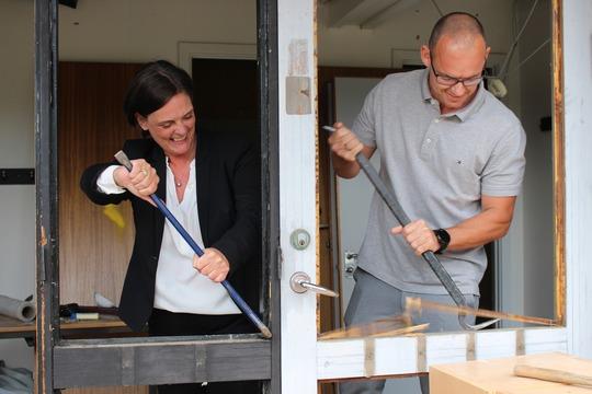 Skoleleder Tina Skelgaard og skolebestyrelsesformand Søren Smedegaard