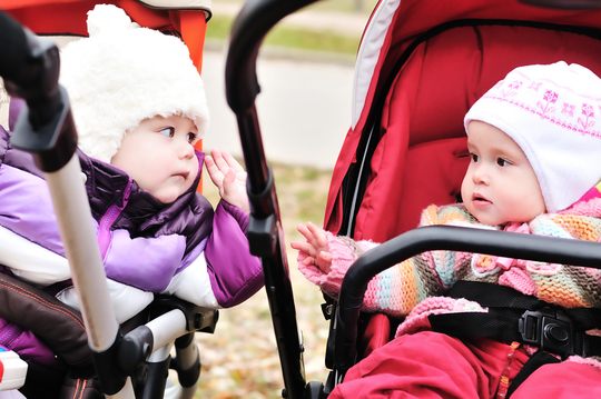 To babyer i klapvogne