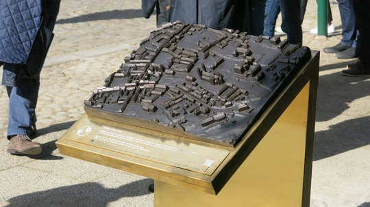 Model af Viborgs historiske bymidte. Foto: Viborg Kommune.