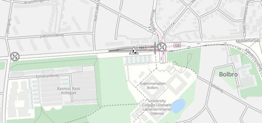 Middelfartvej lukkes for trafik torsdag aften og nat i krydset ved Rismarksvej