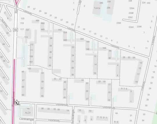 Snorresvej spærret ud mod Rismarksvej i en periode