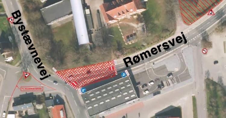 Rømersvej spærres for gennemkørsel på strækningen ud mod Bystævnevej