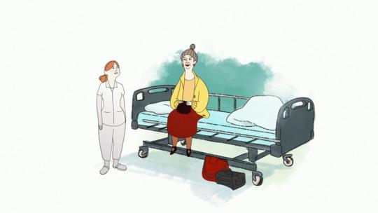 Hospital og kommuner bruger animationsfilm til at fortælle om tilbud og muligheder, når man er hjemme igen efter en indlæggelse på hospitalet.