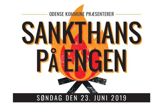 Plakat for Sankthans på Engen 2019